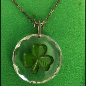 Sol d' Or Jewelry - Celtic Crystal Clover Necklace